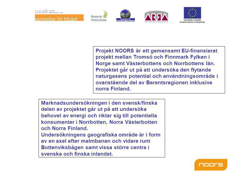 Projekt NOORS är ett gemensamt EU-finansierat projekt mellan Tromsö och Finnmark Fylken i Norge samt Västerbottens och Norrbottens län.
