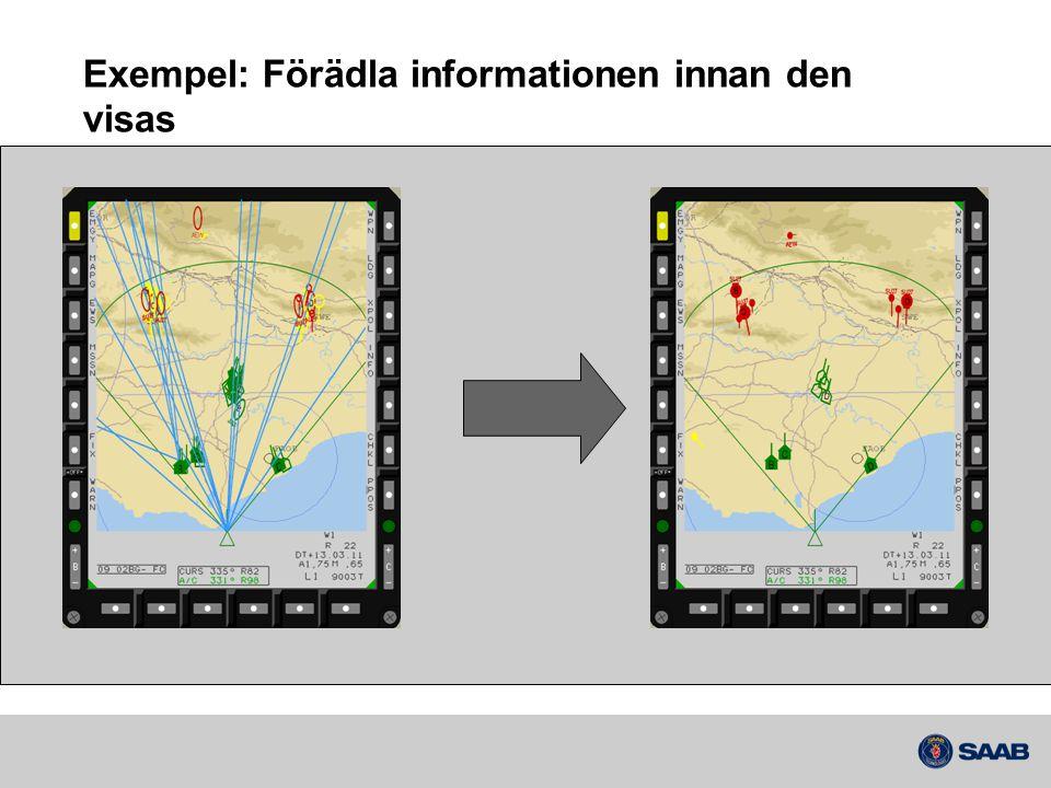 Exempel: Förädla informationen innan den visas