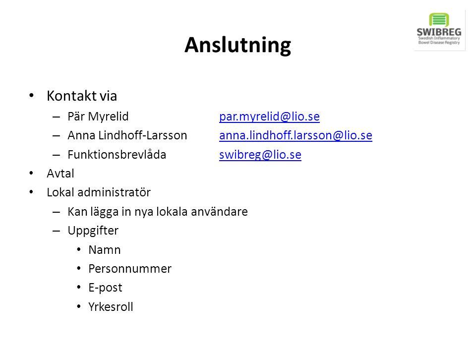 Anslutning Kontakt via – Pär Myrelid par.myrelid@lio.separ.myrelid@lio.se – Anna Lindhoff-Larssonanna.lindhoff.larsson@lio.seanna.lindhoff.larsson@lio
