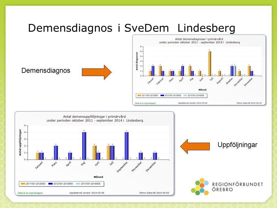 Demensdiagnos i SveDem Lindesberg Demensdiagnos Uppföljningar