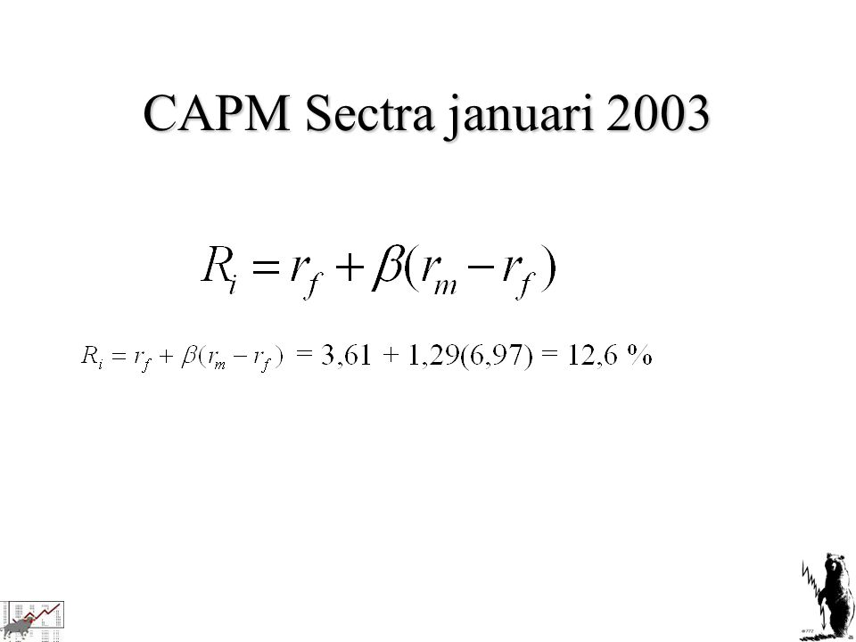 CAPM Sectra januari 2003