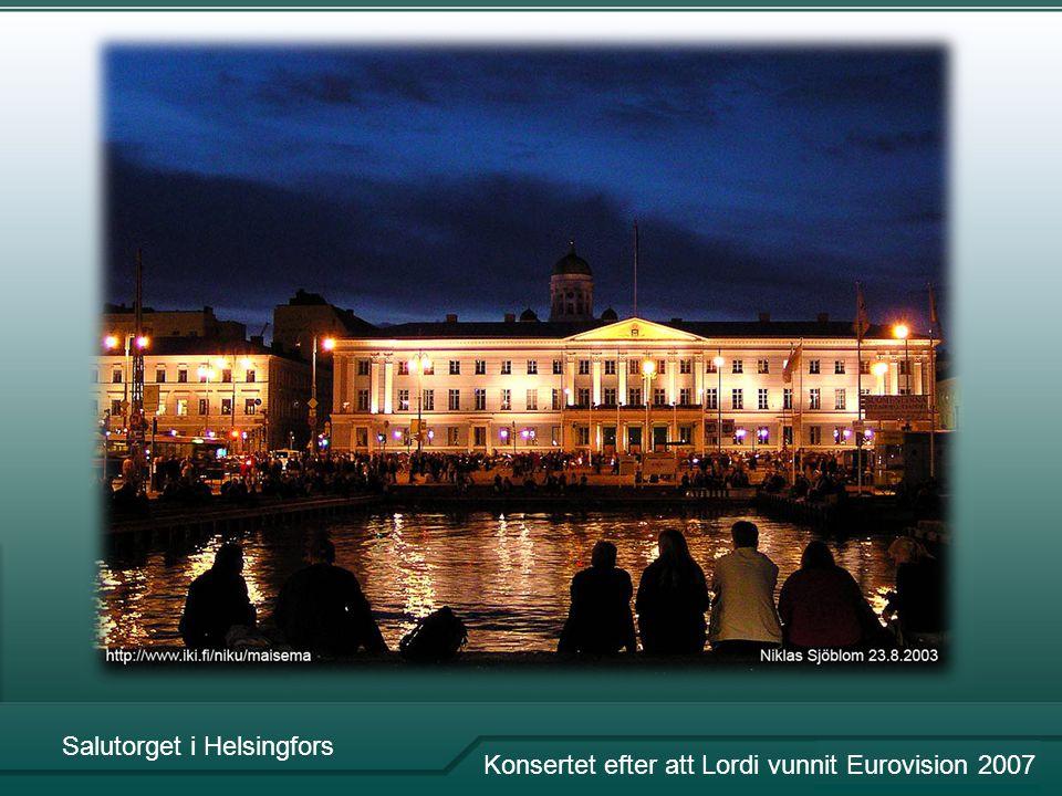 Salutorget i Helsingfors Konsertet efter att Lordi vunnit Eurovision 2007