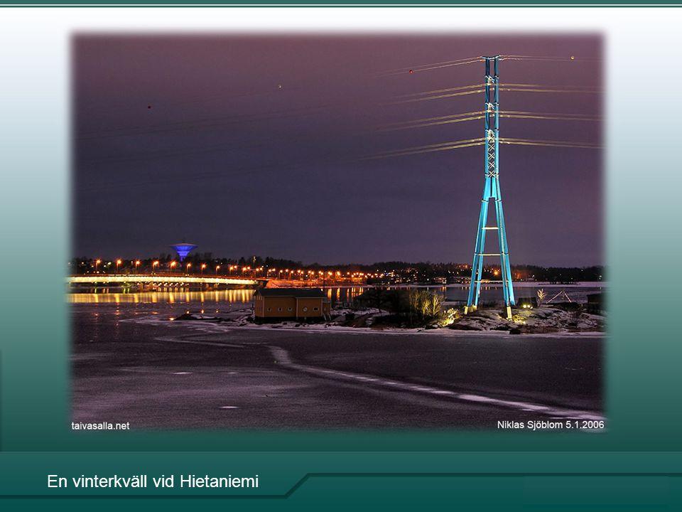 En vinterkväll vid Hietaniemi