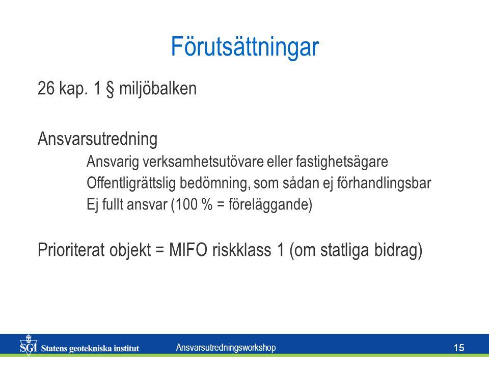 Ansvarsutredningsworkshop 15 Förutsättningar 26 kap.