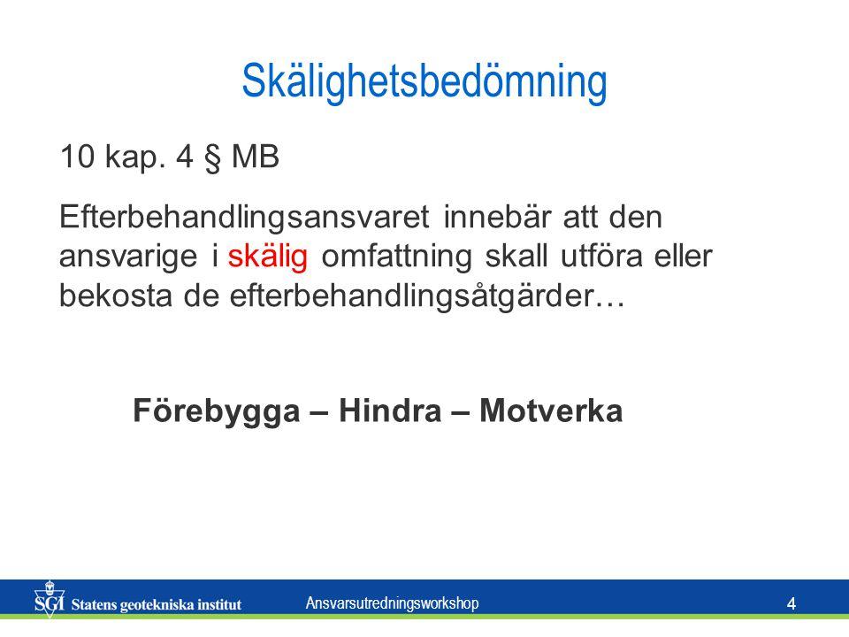 Ansvarsutredningsworkshop 4 Skälighetsbedömning 10 kap.