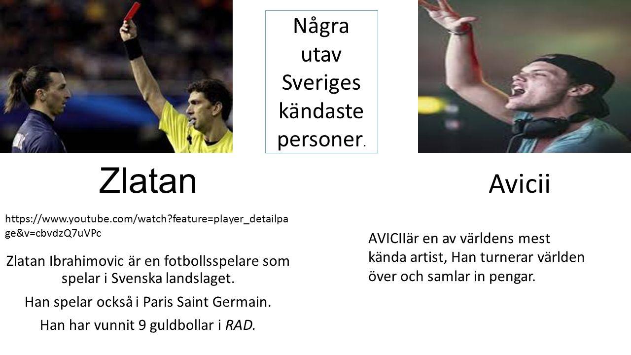 Zlatan Zlatan Ibrahimovic är en fotbollsspelare som spelar i Svenska landslaget.