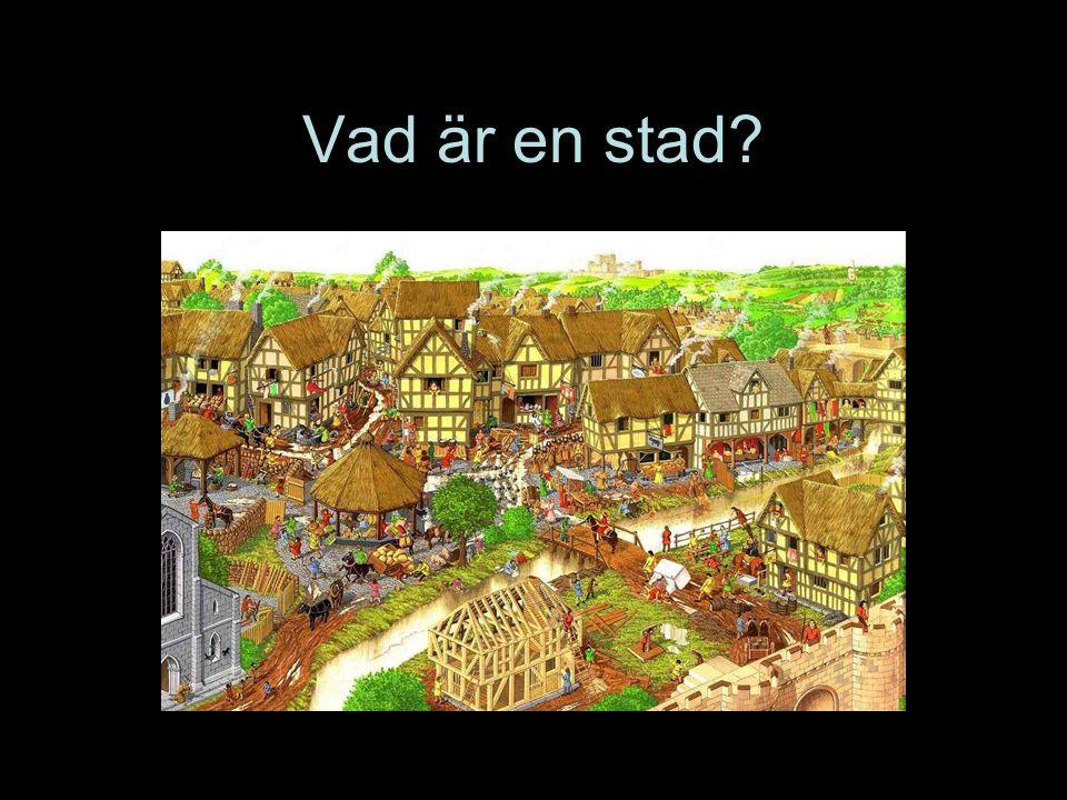 Vad är en stad