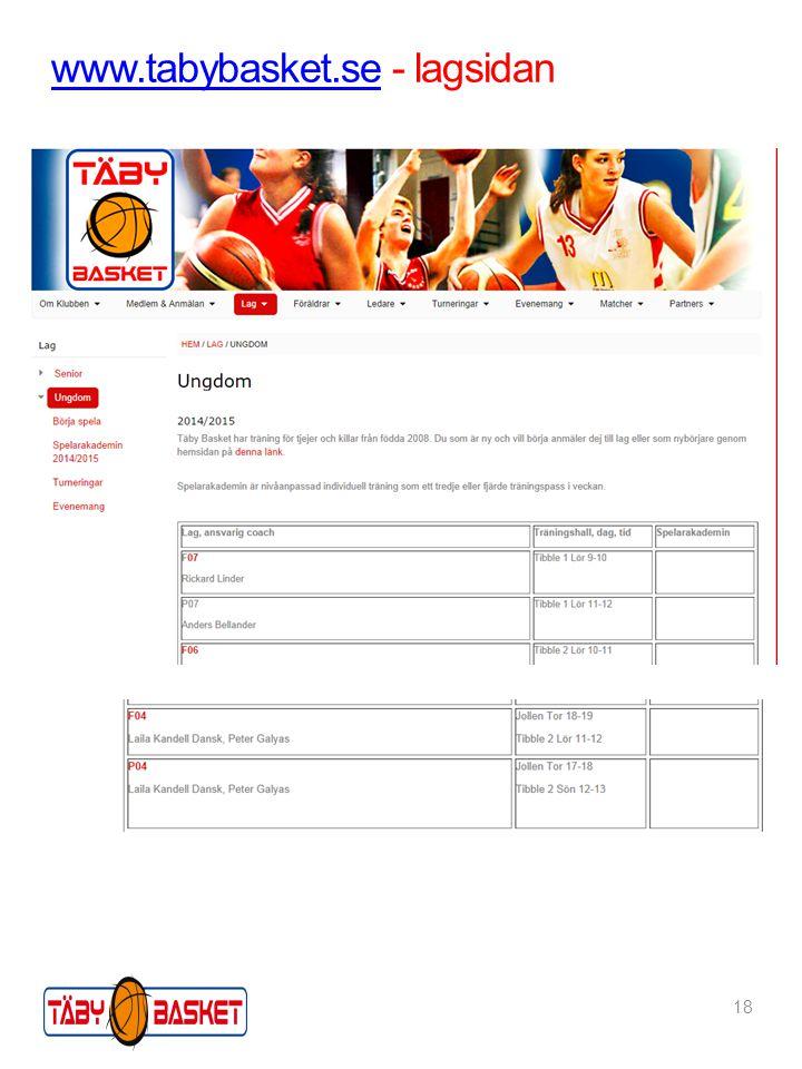 www.tabybasket.sewww.tabybasket.se - lagsidan 18