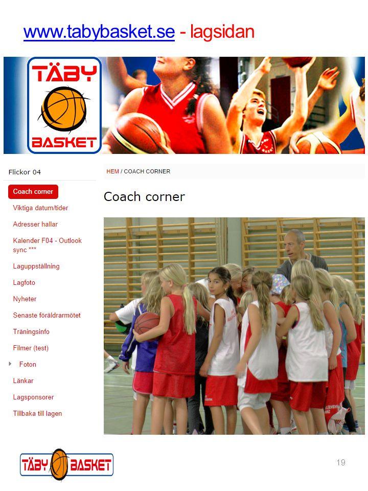 19 www.tabybasket.sewww.tabybasket.se - lagsidan