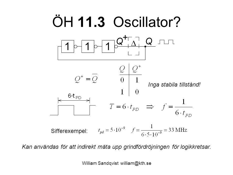 ÖH 11.3 Oscillator.William Sandqvist william@kth.se Inga stabila tillstånd.