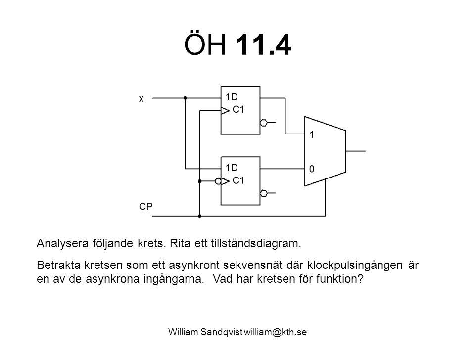 William Sandqvist william@kth.se ÖH 11.4 Analysera följande krets.