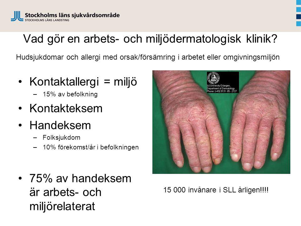 Vad gör en arbets- och miljödermatologisk klinik.