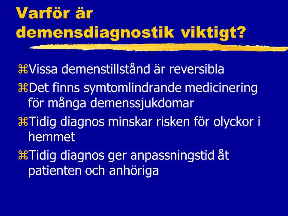 Varför är demensdiagnostik viktigt.