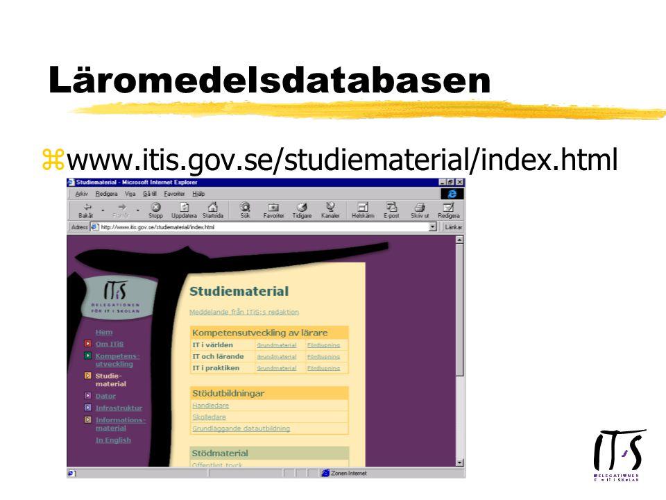 Läromedelsdatabasen zwww.itis.gov.se/studiematerial/index.html