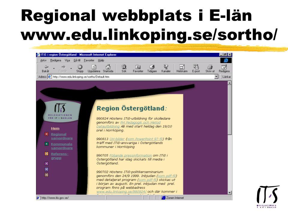 Regional webbplats i E-län www.edu.linkoping.se/sortho/