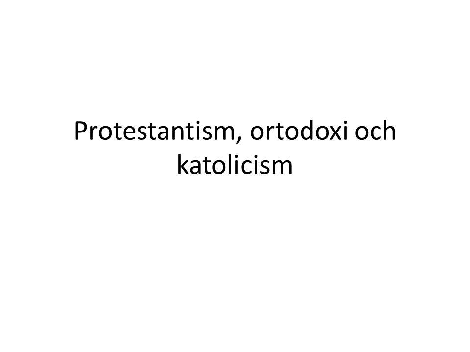 Protestantism Erkänner inte påven.