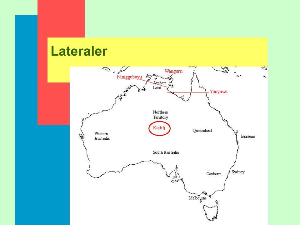 Lateraler Laterala frikativor: [Â L] laterala approximanter; dental/alveolar/postalveolar: [l] retroflex: [ñ] palatal: [´] velar: [L]