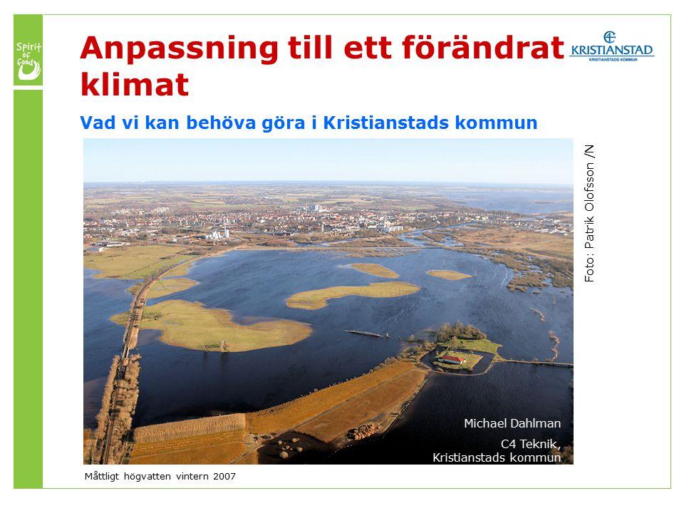 Årsmedeltemperaturen i Skåne beräknas stiga med mellan 4,1 och 5,2 grader till år 2100.