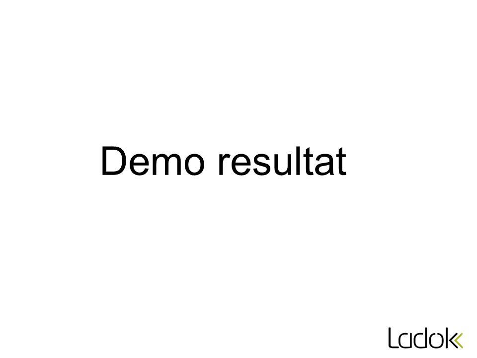 Demo resultat