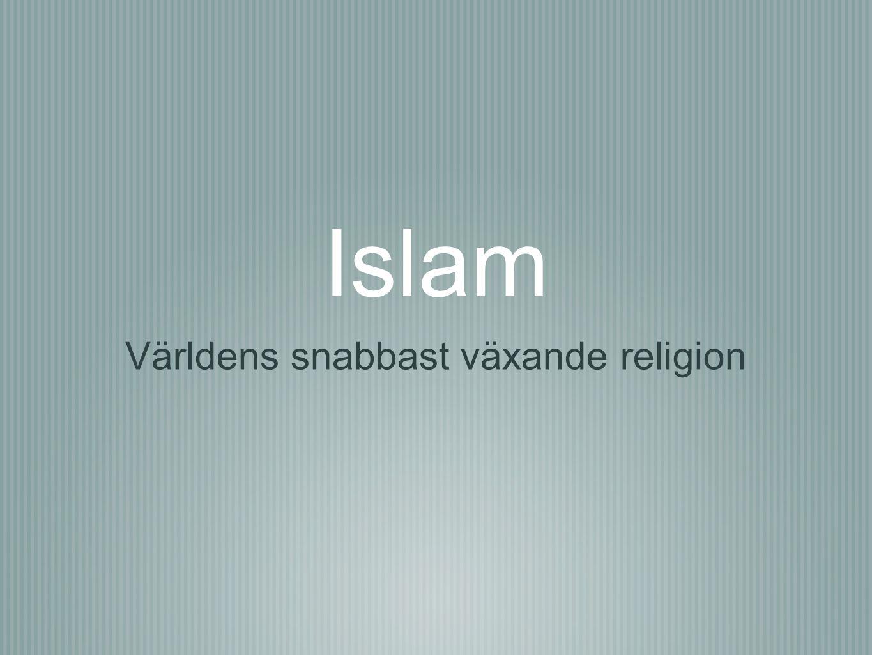 Islam Världens snabbast växande religion