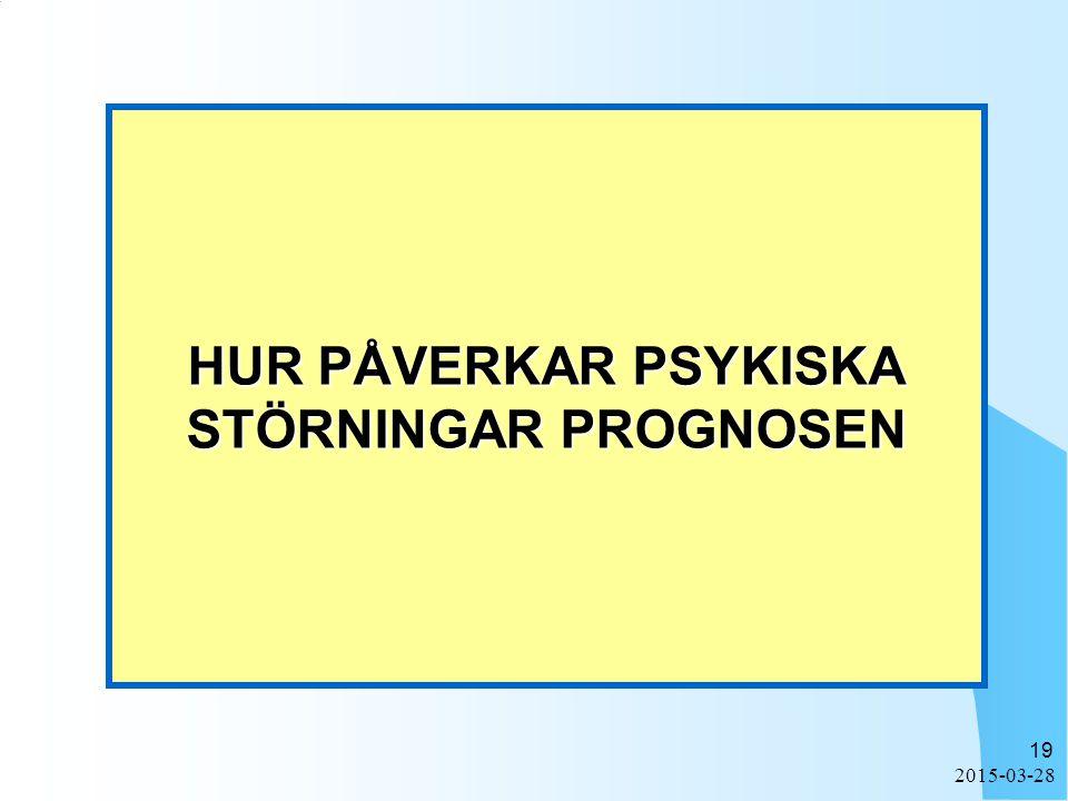 2015-03-28 19 HUR PÅVERKAR PSYKISKA STÖRNINGAR PROGNOSEN