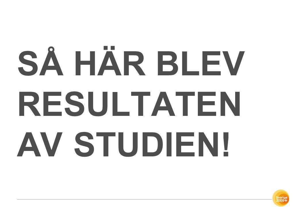 SÅ HÄR BLEV RESULTATEN AV STUDIEN!