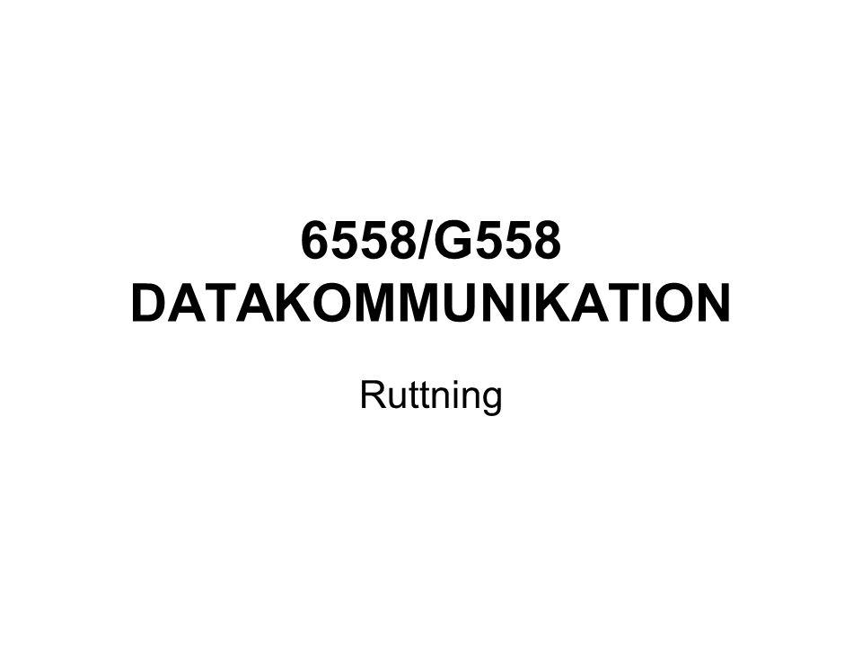 6558/G558 DATAKOMMUNIKATION Ruttning