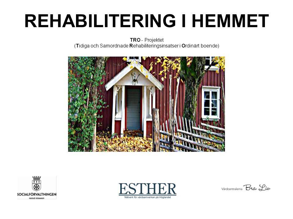 Bakgrund Esthers behov av och värdet med rehab i hemmet Vårdval - Splittrad rehaborganisation – minskad teamsamverkan Utvecklingsbehov av det vardagsrehabiliterande förhållningssättet