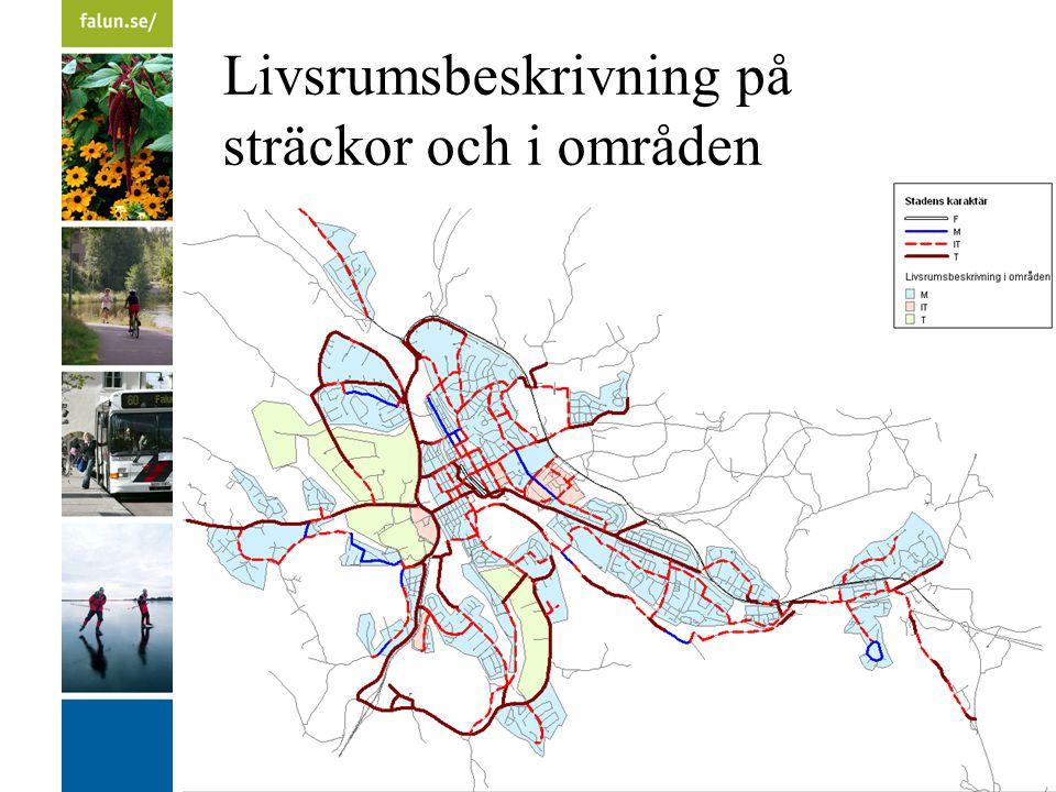 Livsrumsbeskrivning på sträckor och i områden