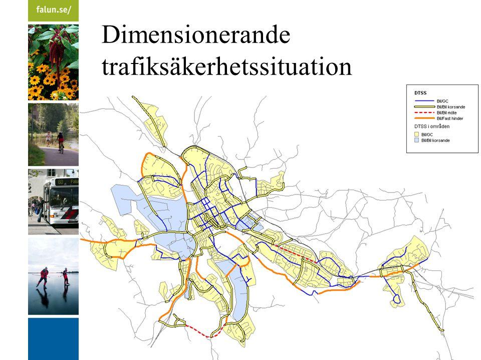 Dimensionerande trafiksäkerhetssituation