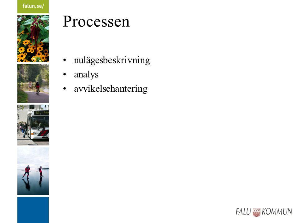 Processen nulägesbeskrivning analys avvikelsehantering