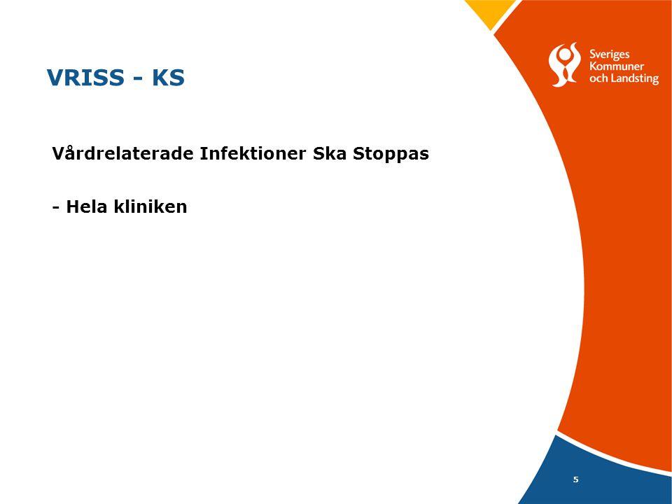 5 VRISS - KS Vårdrelaterade Infektioner Ska Stoppas - Hela kliniken