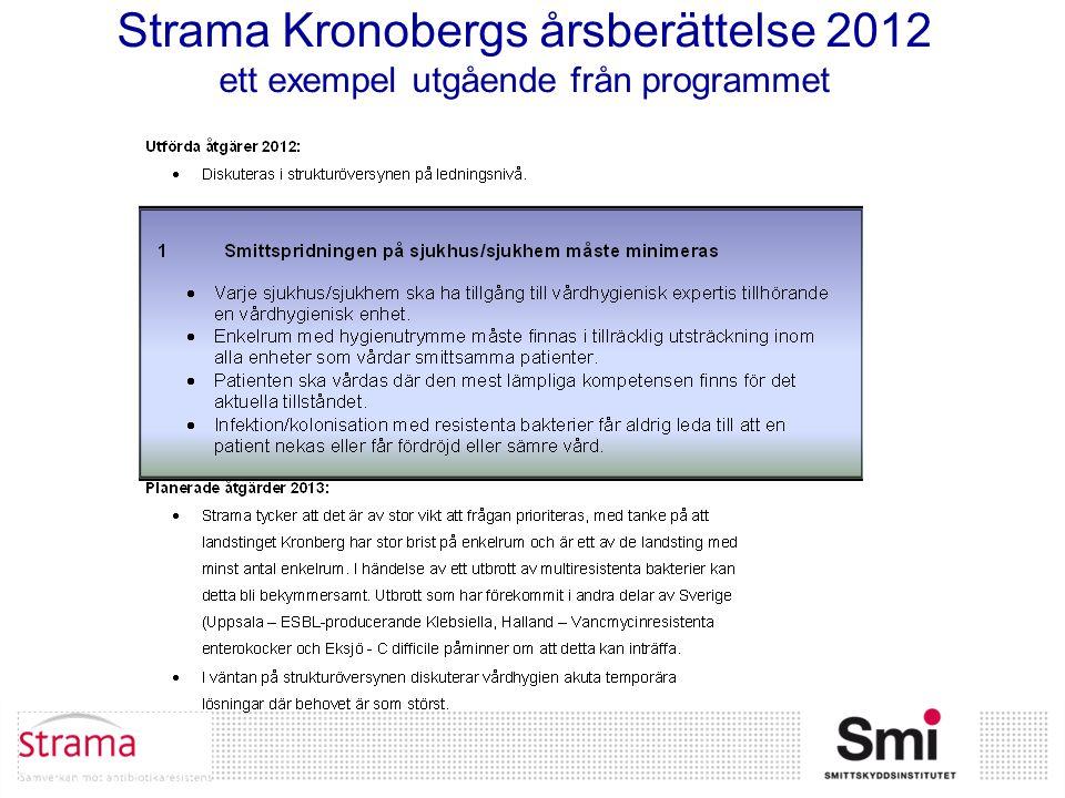 Strama Kronobergs årsberättelse 2012 ett exempel utgående från programmet