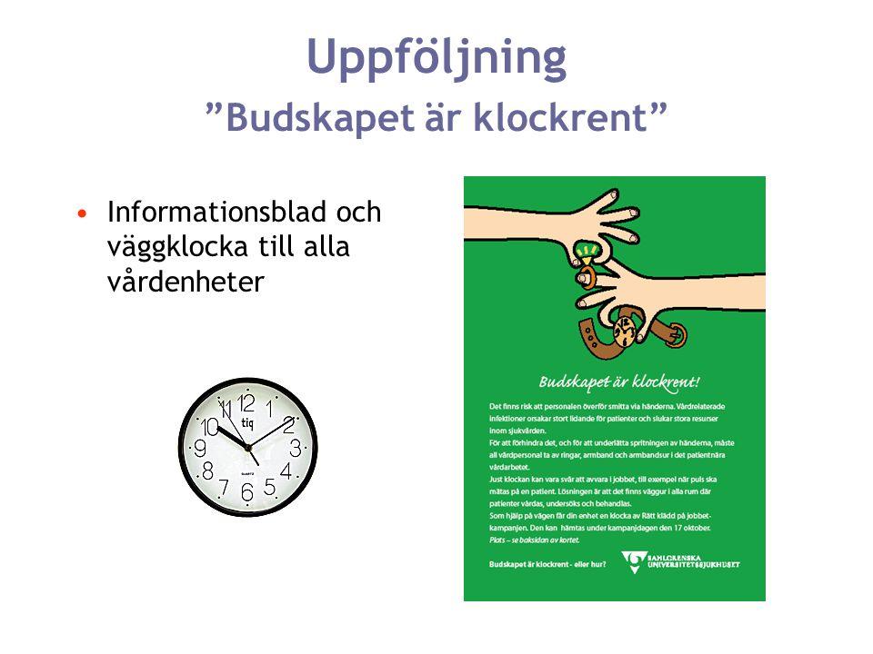 """Uppföljning """"Budskapet är klockrent"""" Informationsblad och väggklocka till alla vårdenheter"""