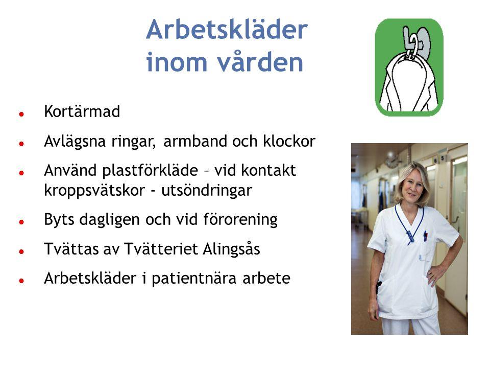 Klädkampanj inom SU Chefsläkaren inom SU Informationsavdelningen SU Tvätteriet Alingsås Infektionshygien