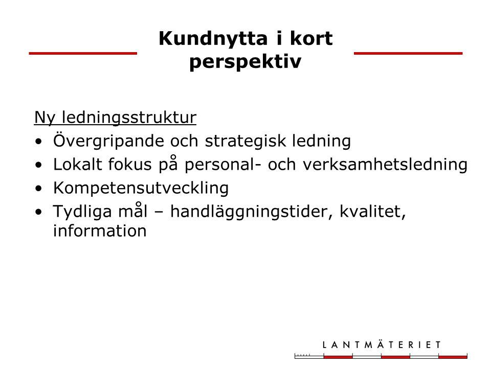 Ny ledningsstruktur Övergripande och strategisk ledning Lokalt fokus på personal- och verksamhetsledning Kompetensutveckling Tydliga mål – handläggnin
