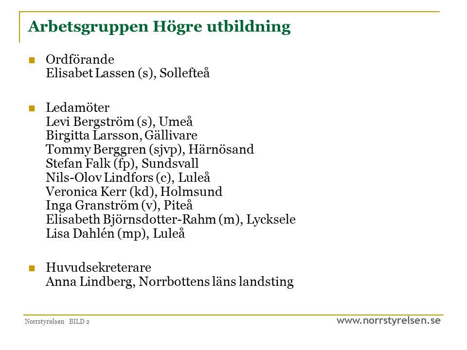 www.norrstyrelsen.se Norrstyrelsen BILD 3 Uppdrag från Norrstyrelsen Belysa ett sakområde inför bildandet av en region.