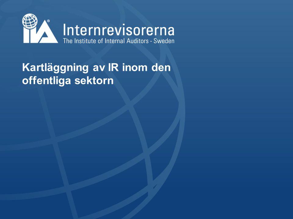 Kartläggning av IR inom den offentliga sektorn