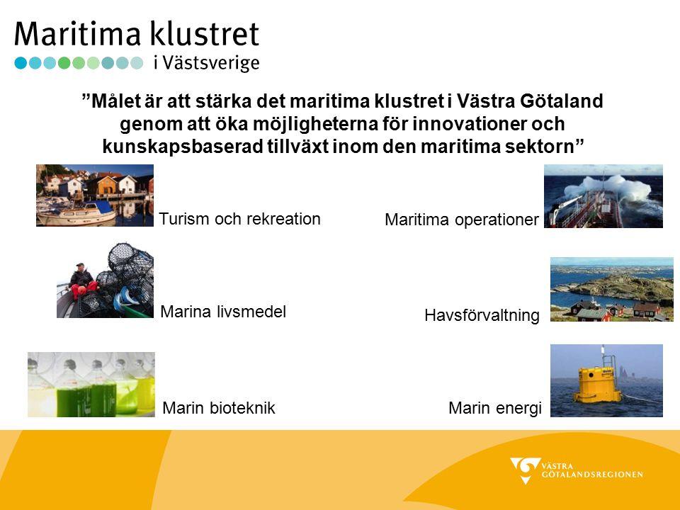 """""""Målet är att stärka det maritima klustret i Västra Götaland genom att öka möjligheterna för innovationer och kunskapsbaserad tillväxt inom den mariti"""