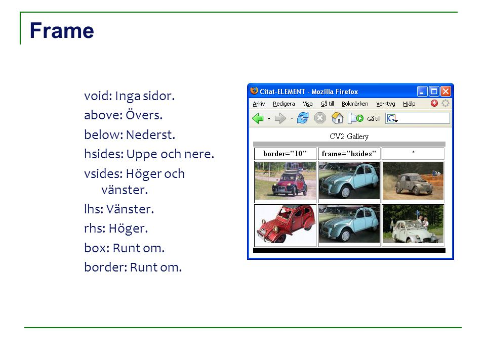 Frame void: Inga sidor. above: Övers. below: Nederst.