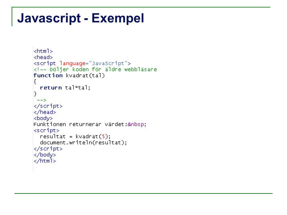 Javascript - Exempel