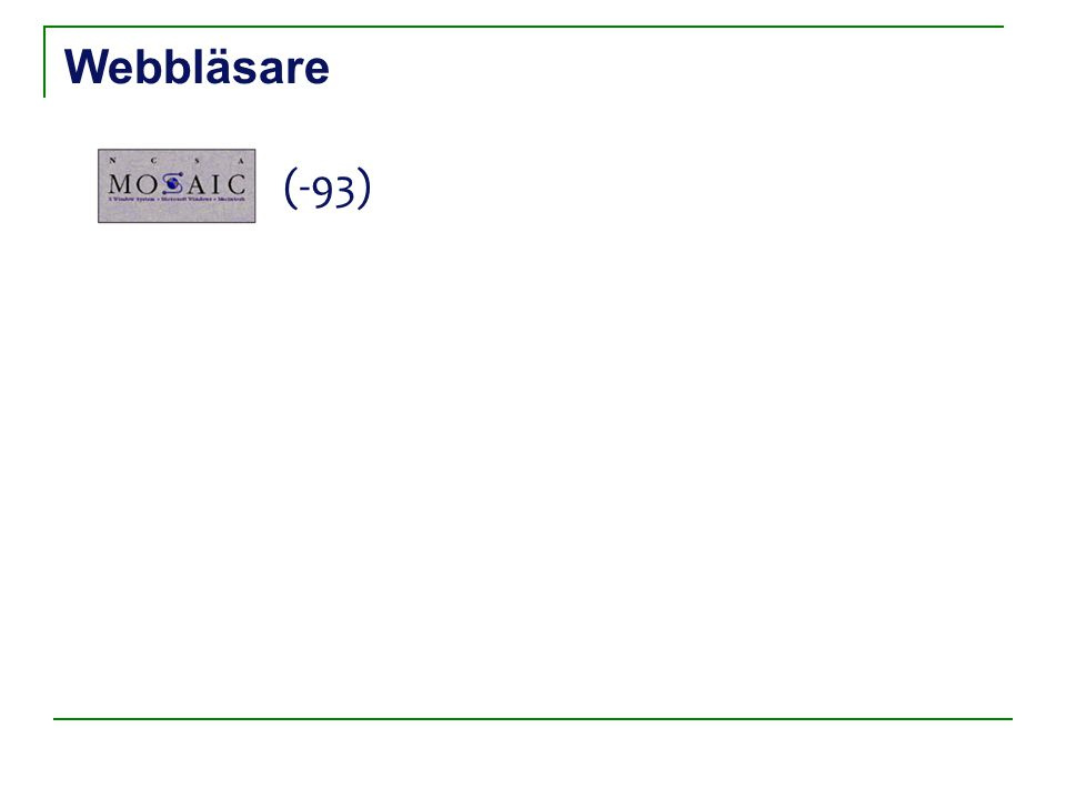 Teknisk beskrivning Internet Webbserver Dator med webbläsare Webbsida efterfrågas Webbsida visas HTTP Request Förfrågan processas Efterfrågad sida returneras HTTP Response