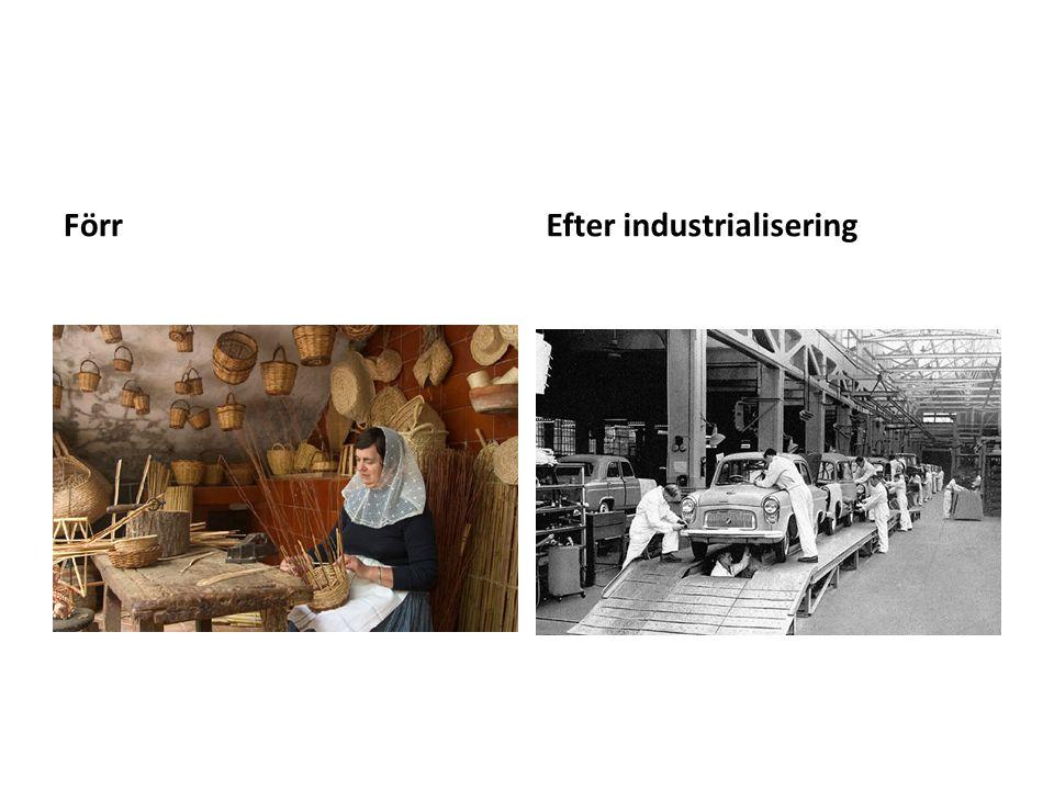 FörrEfter industrialisering