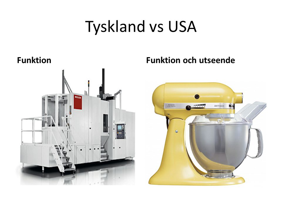 Tyskland vs USA FunktionFunktion och utseende