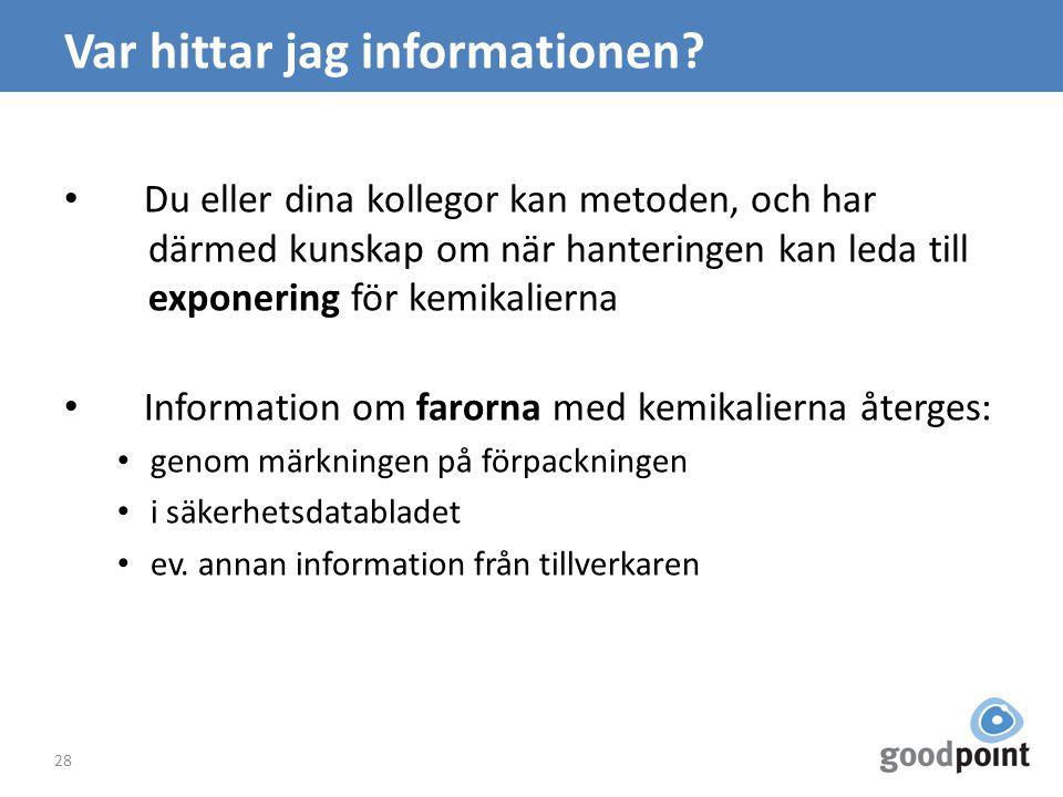 Var hittar jag informationen.