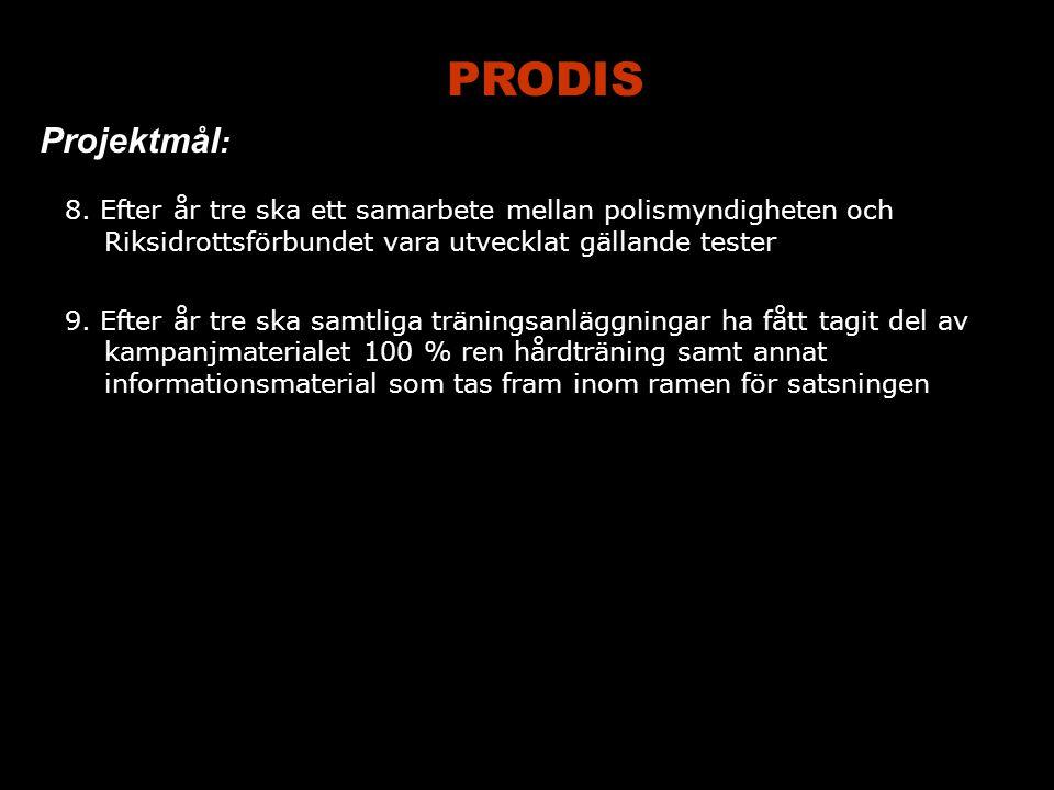PRODIS Projektmål : 8.