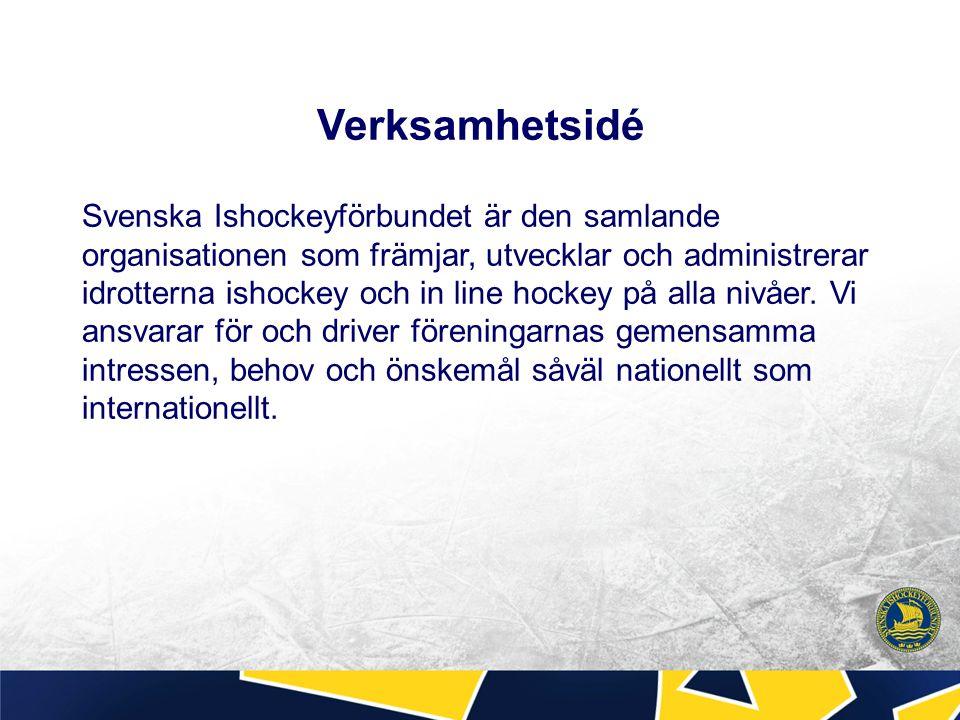 Verksamhetsidé Svenska Ishockeyförbundet är den samlande organisationen som främjar, utvecklar och administrerar idrotterna ishockey och in line hocke