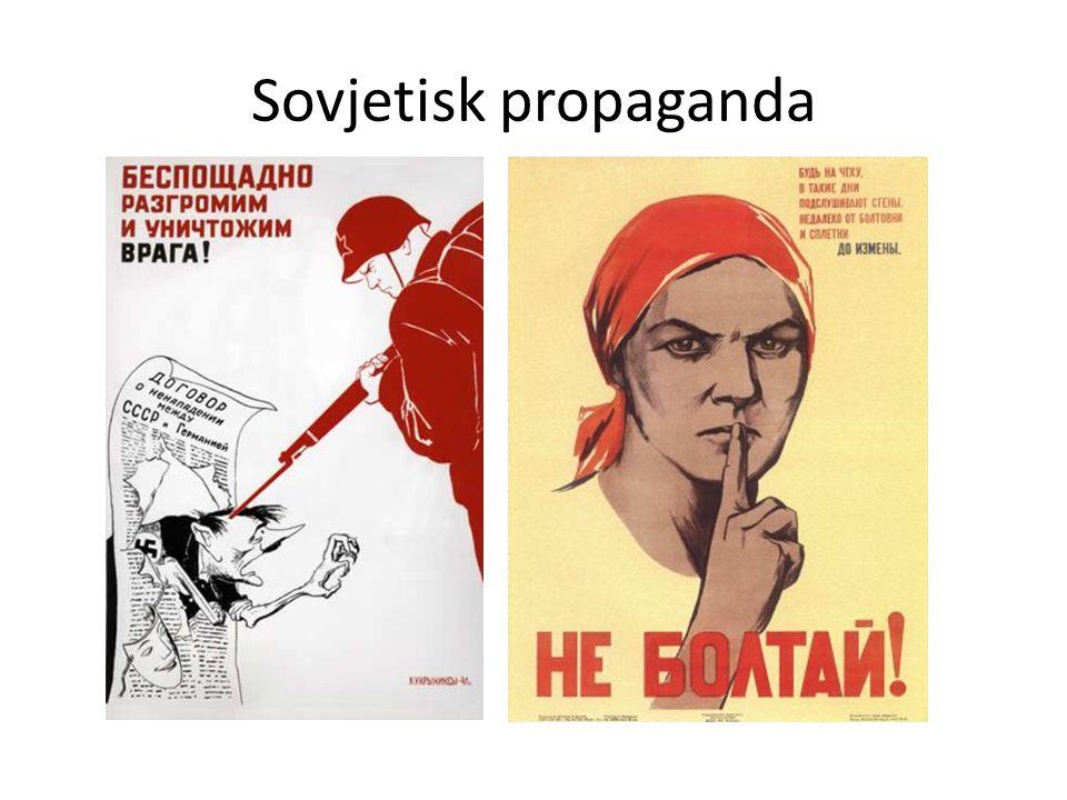 Propaganda framställning -Syftar till att påverka åsikter eller beteende -Slogan: Kort och kärnfull fras -Budskapet visar bara en sida av en sak -Vissa fakta är utvalda, andra bortvalda för att stödja det budskap man vill föra fram -Symboliskt bildspråk