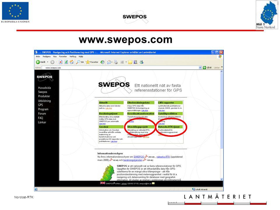 Nordost-RTK www.swepos.com