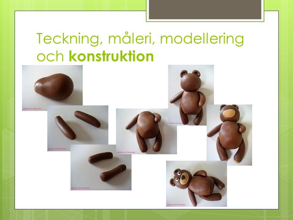 Teckning, måleri, modellering och konstruktion